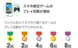 無料ゲームプレイ回数アップ